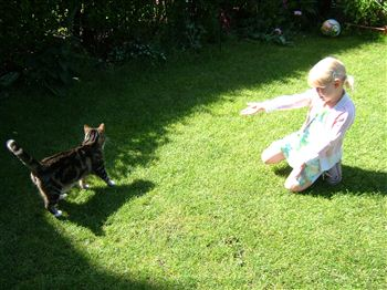 Emily with her beloved kitty