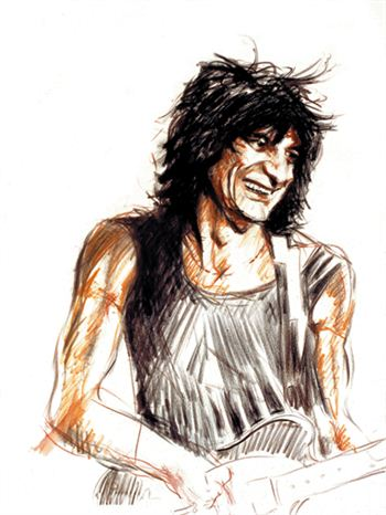 Ronnie Wood's self portrait