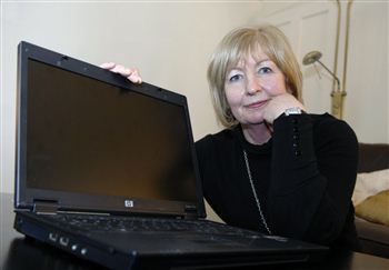Eleanor Cooke with the offending computer