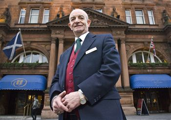 Billy Garioch Outside Caledonian Hotel