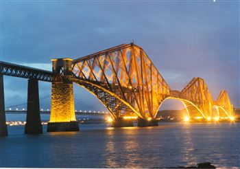 Forth Bridge at night