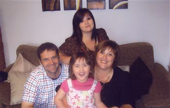 Mackenzie family - l -r Dad Mark, Sister Robyn, Millie, Kelly