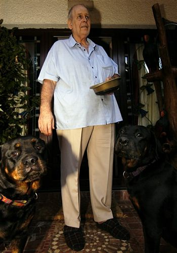 Tam and his beloved dogs