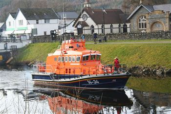 Fraserburgh lifeboat that rushed to the scene
