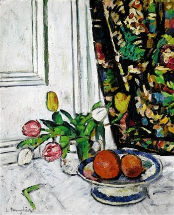 Hunter - Still Life with Tulips and Oranges