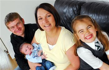 The McAuley family; Michael, Evan, Kerri and Chloe (left to right)