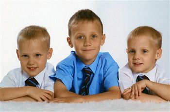 Andrew, Jamie and Matthew Osborne (l-r)
