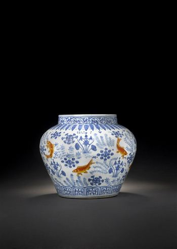 Bonhams-GoldMingCarpJar