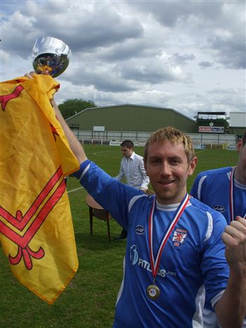 Hotshots - Nick Dickson with cup