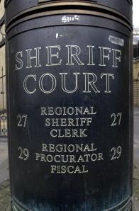 Sheriff court stock pic