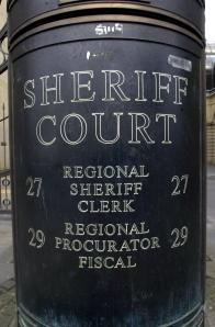 Sheriff court stock pic