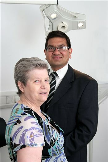 SIGHT FOR SORE EYES: Jean and Dr Agrawal
