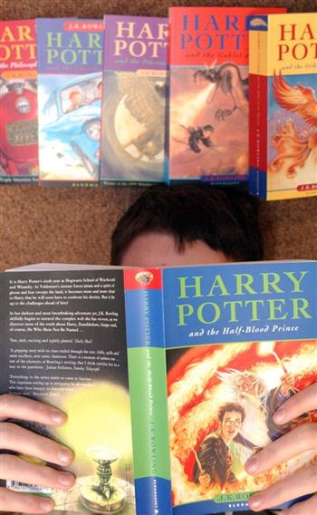 Harry Potter books with original childrens' cover