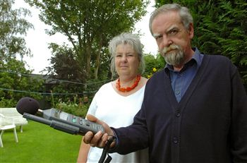 Bill and Maggie Friel with their noise machine