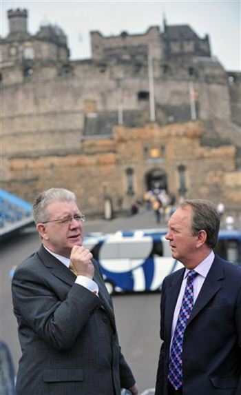 Announcing the cash funding at Edinburgh Castle yesterday, Culture Minister