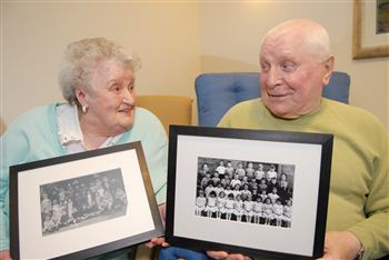 Bill and Sheila sharing memories