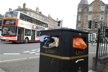 Rubbish piling up in the capital