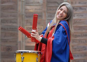 Dame Evelyn Glennie celebrates her degree