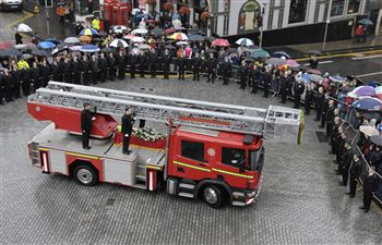 Firefighter Ewan Williamson's Funeral
