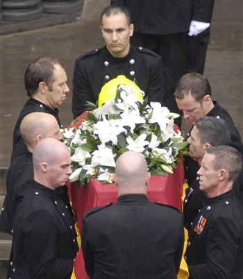 Ewan Williamson's funeral