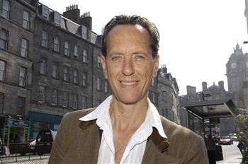 Richard E Grant in Edinburgh earlier this month
