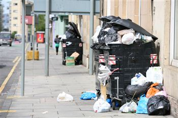 Rubbish in Edinburgh