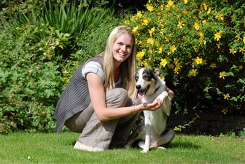 Skye with owner Julie McElhinney