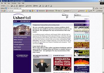 The apology on the Usher Hall website