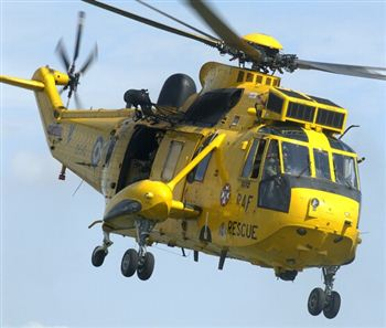 An emergency rescue mission was launched, including a helicopter crew