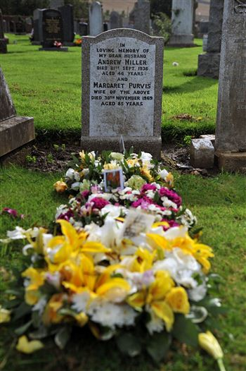 The grave where Margaret Miller wanted to be buried