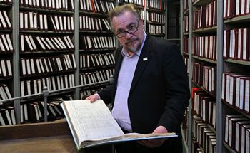 Brian browses the archives