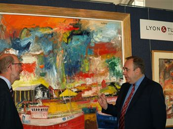 Alex Salmond with Nick Curnow (MD at Lyon and Turnbull)