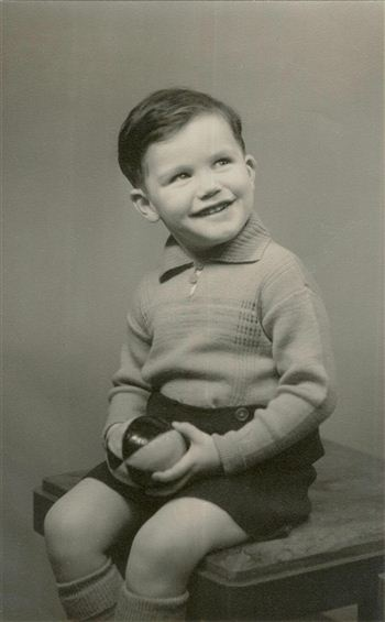 Three-year-old Brian Cox