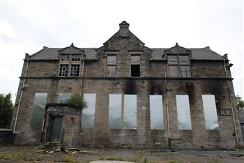 The old Broxburn Primary, now derelict
