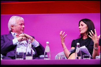 Christopher Biggins (left) and Davina McCall (right)