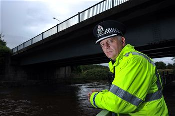 Inspector Stephen Elliot at the scene of the incident