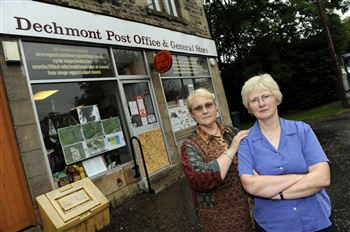 Owner Mary Boylan (left) and manager Liz Reid (right) outside the shop