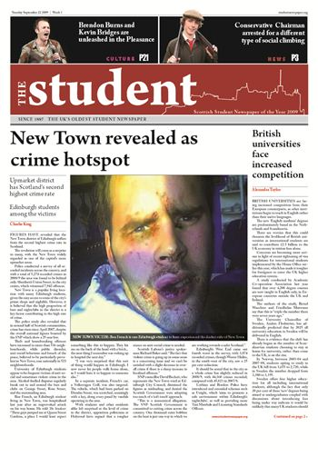 student newspaper front page copy