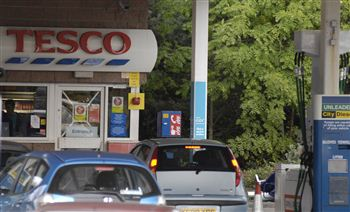 The petrol station where a 70-year-old smashed into the pump after suffering a heart attack
