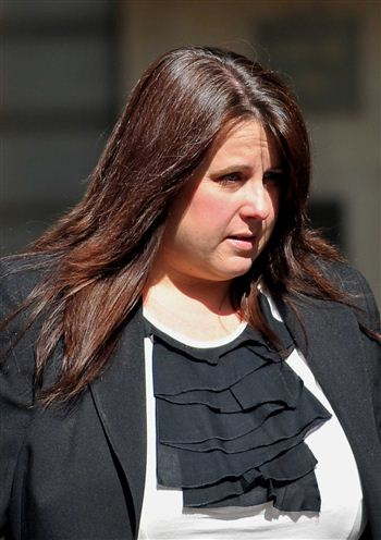 JAILED: shamed bank boss Susan Burnett