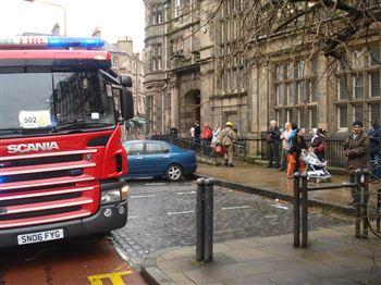 Fire at McDonald Road library