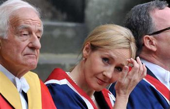 Rowling attended to receive a University Benefactor's award