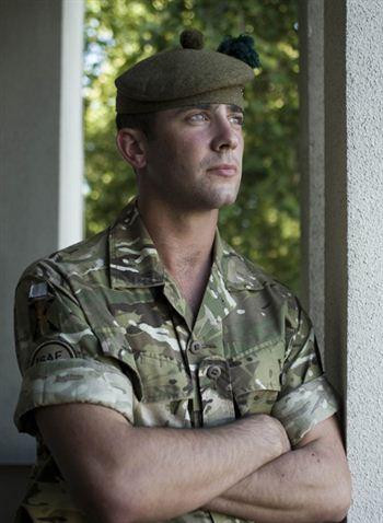Bryan Johnston receives the Military Cross