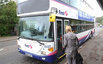 The incident occurred on a First bus