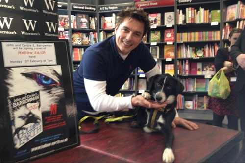Alfie gave John Barrowman helping hand at book launch in Glasgow