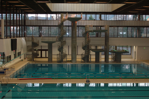 Scuba Diver Dives In To Commonwealth Pool Project Deadline News