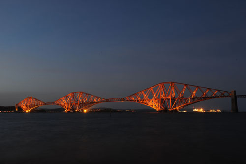 The rail link between Edinburgh and Fife has been extremely busy as a result of the closed road bridge