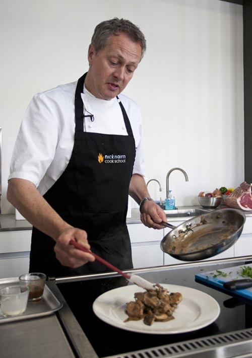 Nick Nairn in action at his cook school