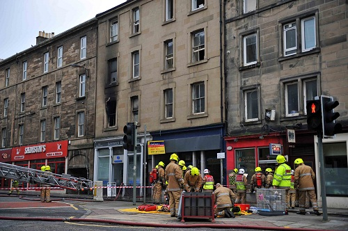 Fire in Flat in City Centre
