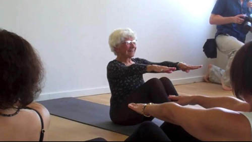 Ida Herbert, aged 96 from Canada, is currently the world's oldest yoga teacher
